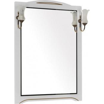 Зеркало Aquanet Луис 80 белый/золото