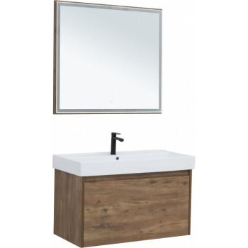 Комплект мебели для ванной Aquanet Nova Lite 90 дуб рустикальный (1 ящик)