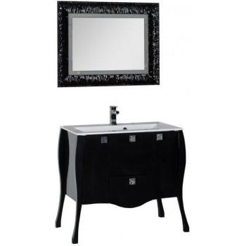 Комплект мебели для ванной Aquanet Мадонна 90 черный