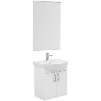 Комплект мебели для ванной Aquanet Ирис 60 белый (2 дверцы)