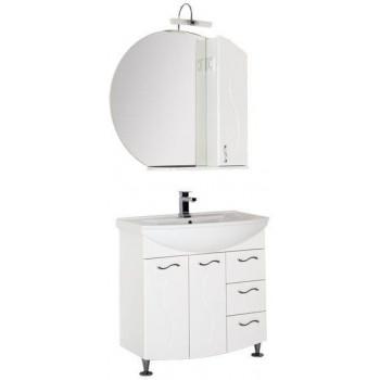Комплект мебели для ванной Aquanet Моника 85 белый