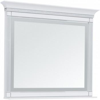 Зеркало с подсветкой Aquanet Селена 120 белый/серебро