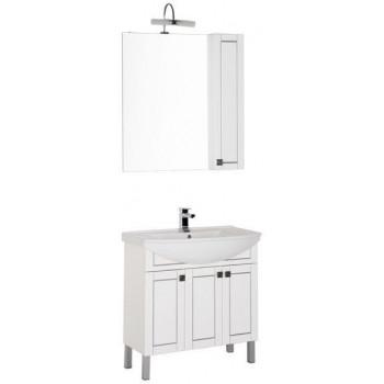 Комплект мебели для ванной Aquanet Честер 85 белый/серебро
