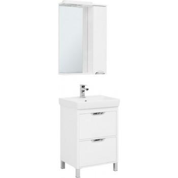 Комплект мебели для ванной Aquanet Гретта 60 New белый (2 ящика)