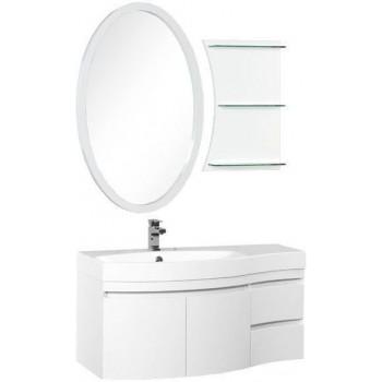 Комплект мебели для ванной Aquanet Опера 115 L белый (2 дверцы 2 ящика)