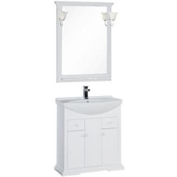 Комплект мебели для ванной Aquanet Лагуна 75 белый