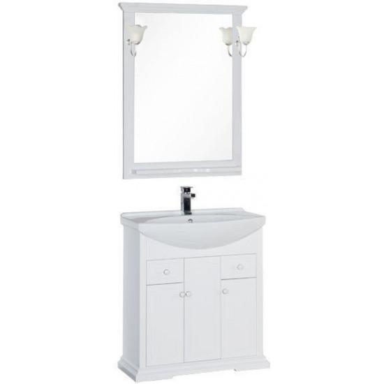 Комплект мебели для ванной Aquanet Лагуна 75 белый в интернет-магазине ROSESTAR фото