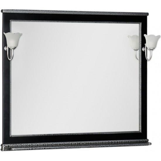Зеркало Aquanet Валенса 110 черный краколет/серебро в интернет-магазине ROSESTAR фото