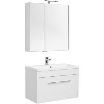 Комплект мебели для ванной Aquanet Августа 90 белый