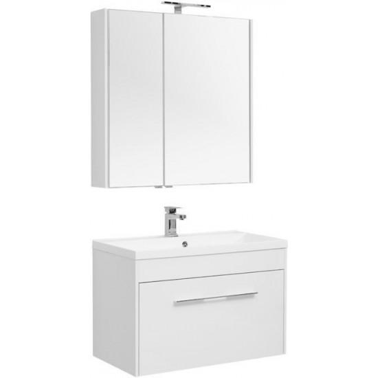 Комплект мебели для ванной Aquanet Августа 90 белый в интернет-магазине ROSESTAR фото