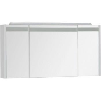 Зеркало-шкаф с подсветкой Aquanet Лайн 120 белый