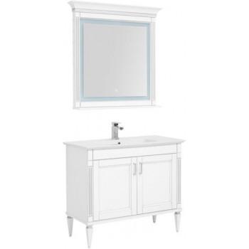Комплект мебели для ванной Aquanet Селена 105 белый/серебро (2 дверцы)