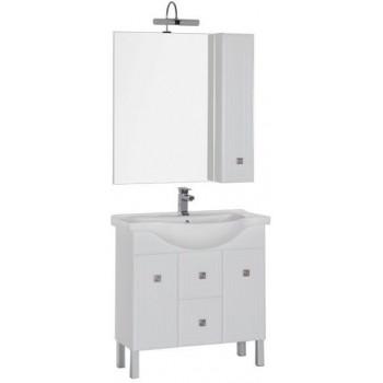 Комплект мебели для ванной Aquanet Стайл 85 белый (2 дверцы 2 ящика)