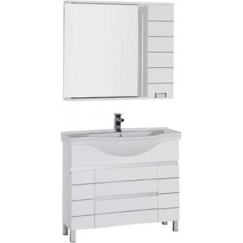 Комплект мебели для ванной Aquanet Доминика 100 белый