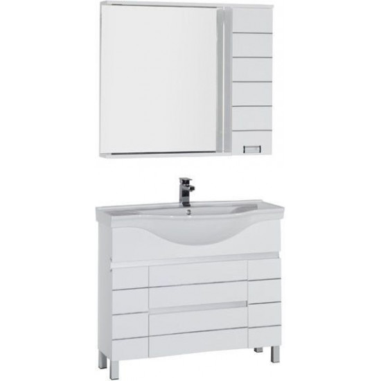 Комплект мебели для ванной Aquanet Доминика 100 белый в интернет-магазине ROSESTAR фото