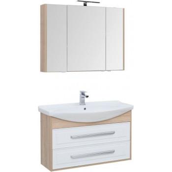 Комплект мебели для ванной Aquanet Остин 105 дуб сонома/белый