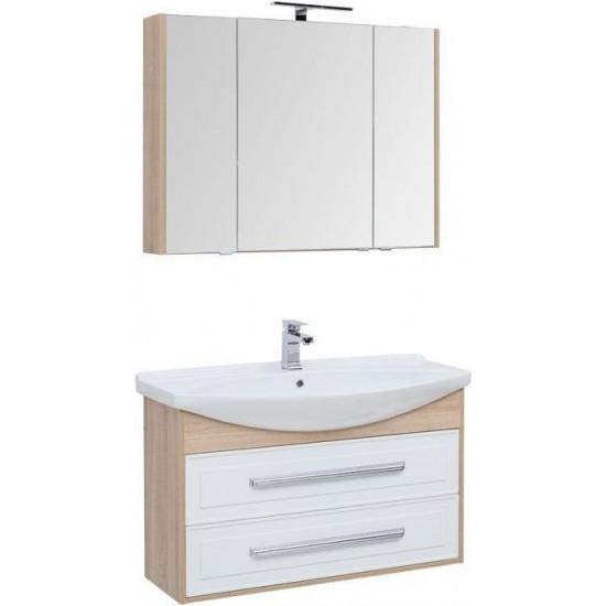 Комплект мебели для ванной Aquanet Остин 105 дуб сонома/белый в интернет-магазине ROSESTAR фото
