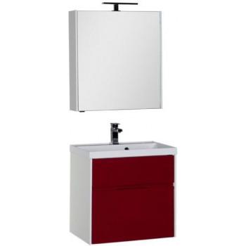 Комплект мебели для ванной Aquanet Латина 70 бордо (2 ящика)