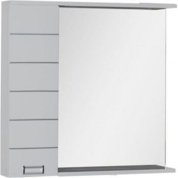 Зеркало-шкаф с подсветкой Aquanet Доминика 90 R LED белый