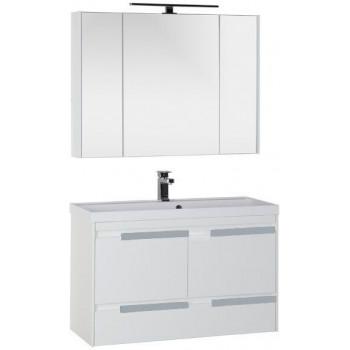 Комплект мебели для ванной Aquanet Тиволи 100 белый