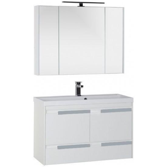 Комплект мебели для ванной Aquanet Тиволи 100 белый в интернет-магазине ROSESTAR фото