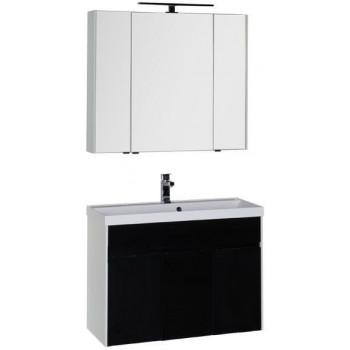 Комплект мебели для ванной Aquanet Латина 100 черный