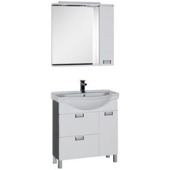 Комплект мебели для ванной Aquanet Сити 80 венге