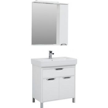 Комплект мебели для ванной Aquanet Гретта 80 New белый (1 ящик, 2 дверцы)