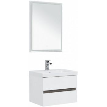 Комплект мебели для ванной Aquanet Беркли 60 белый/дуброшелье (зеркало белое)