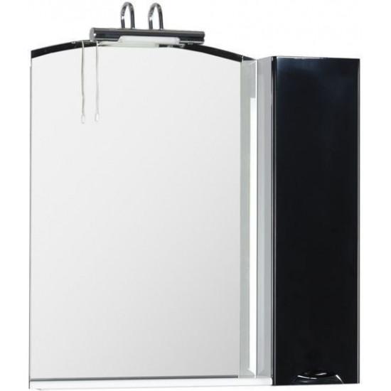Зеркало-шкаф Aquanet Асти 85 черный в интернет-магазине ROSESTAR фото