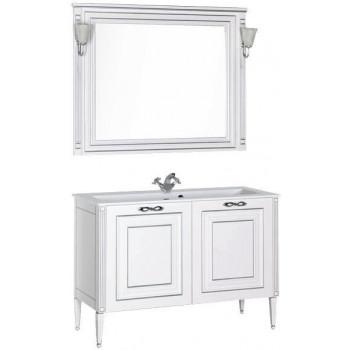 Комплект мебели для ванной Aquanet Паола 120 белый/серебро (литьевой мрамор)