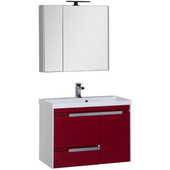 Комплект мебели для ванной Aquanet Тиволи 80 бордо