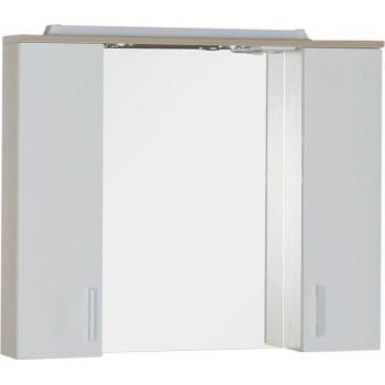 Зеркало-шкаф с подсветкой Aquanet Тиана 90 светлый дуб