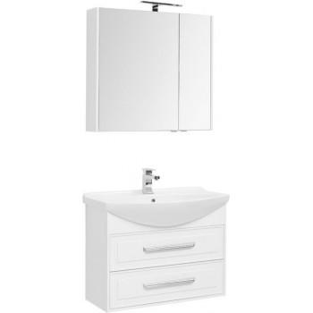 Комплект мебели для ванной Aquanet Остин 85 белый