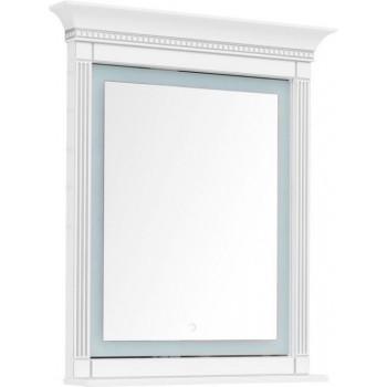 Зеркало с подсветкой Aquanet Селена 90 белый/серебро
