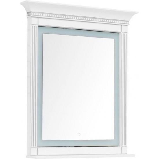 Зеркало с подсветкой Aquanet Селена 90 белый/серебро в интернет-магазине ROSESTAR фото