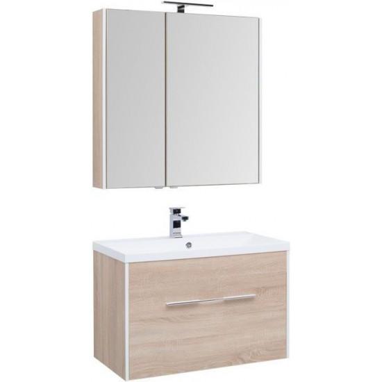 Комплект мебели для ванной Aquanet Августа 90 дуб сонома в интернет-магазине ROSESTAR фото