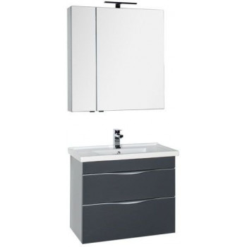 Комплект мебели для ванной Aquanet Эвора 80 серый антрацит