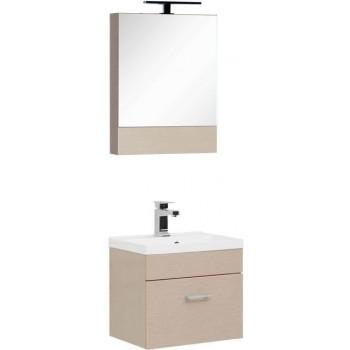 Комплект мебели для ванной Aquanet Нота NEW 50 светлый дуб