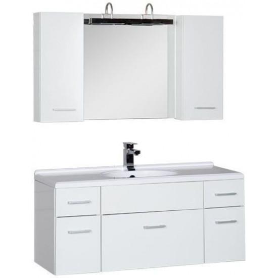 Комплект мебели для ванной Aquanet Данте 110 белый (2 навесных шкафчика) в интернет-магазине ROSESTAR фото