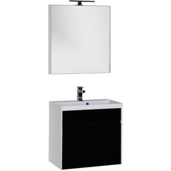 Комплект мебели для ванной Aquanet Латина 70 черный (1 ящик)