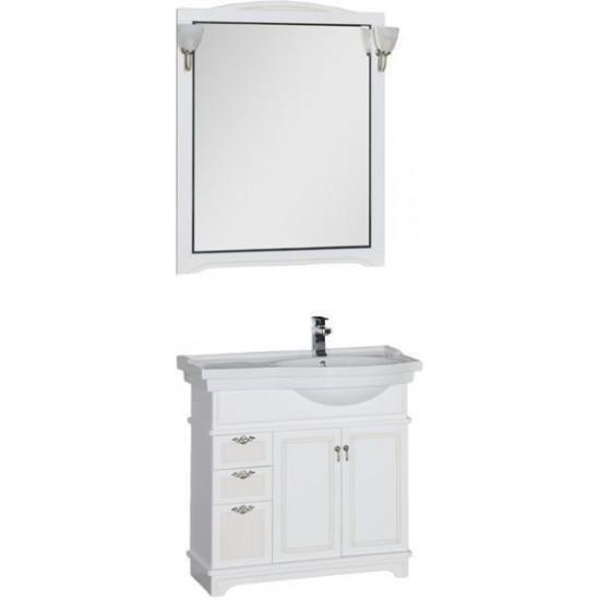 Комплект мебели для ванной Aquanet Луис 90 R белый в интернет-магазине ROSESTAR фото
