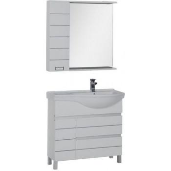 Комплект мебели для ванной Aquanet Доминика 90 R белый