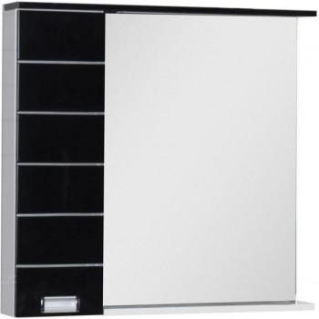 Зеркало-шкаф с подсветкой Aquanet Доминика 90 R LED черный