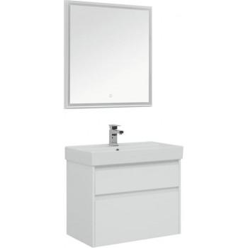 Комплект мебели для ванной Aquanet Nova Lite 75 белый (2 ящика)
