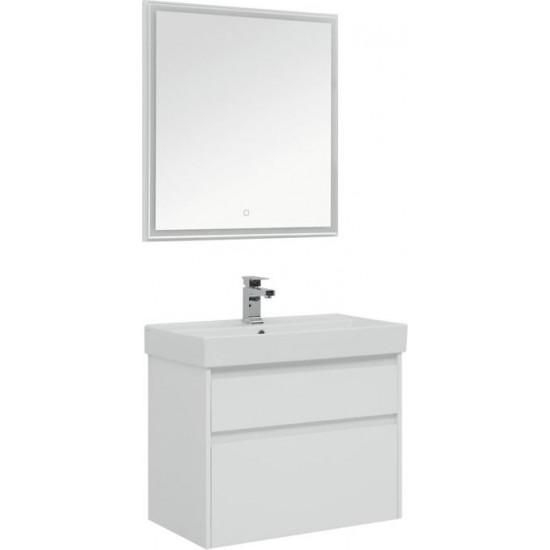 Комплект мебели для ванной Aquanet Nova Lite 75 белый (2 ящика) в интернет-магазине ROSESTAR фото