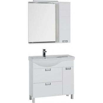 Комплект мебели для ванной Aquanet Сити 90 L белый