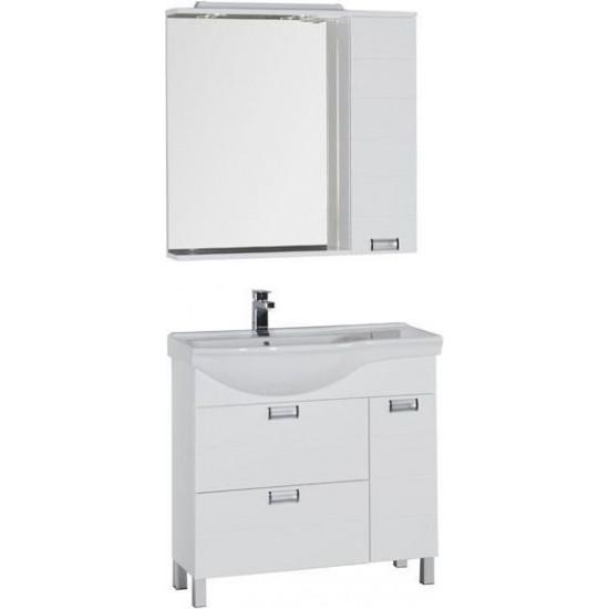 Комплект мебели для ванной Aquanet Сити 90 L белый в интернет-магазине ROSESTAR фото
