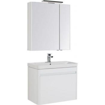 Комплект мебели для ванной Aquanet Вилора 80 белый