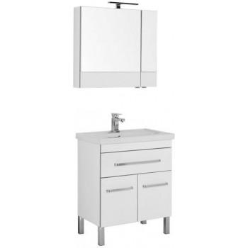 Комплект мебели для ванной Aquanet Сиена 70 белый (напольный 1 ящик 2 дверцы)